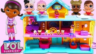 LOL Surprise Dolls Babies Play  Hide and Seek at Doc McStuffins Toy Hospital!