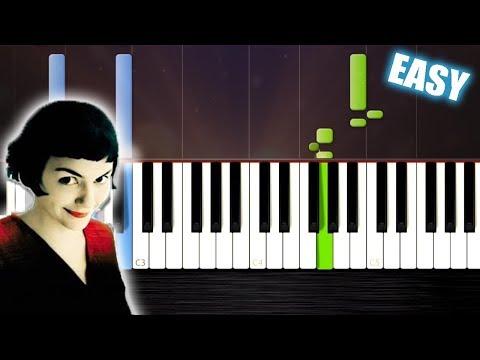 Comptine d'un autre été - Amélie - EASY Piano Cover/Tutorial by PlutaX - Synthesia