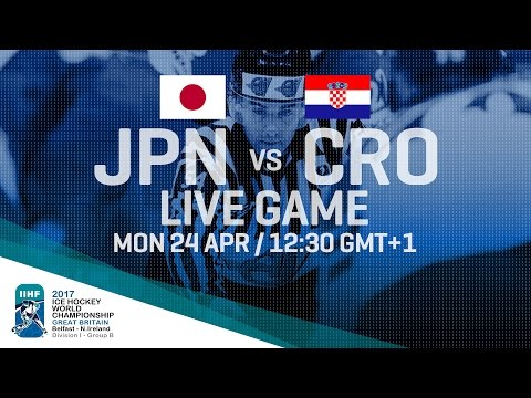 Japan - Croatia | Full Game | 2017 IIHF Ice Hockey World Championship Division I Group B