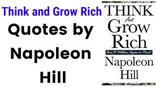 Think and Grow Rich Quotes by Napoleon Hill (English)