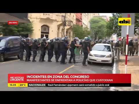 Incidentes en zona del congreso