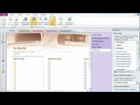 Microsoft Office OneNote 2010 - A tutorial- Great tool of Office 2010 ...
