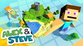 🌎 CONTROL THE WORLD   The Minecraft Life of Alex & Steve   Minecraft Animation