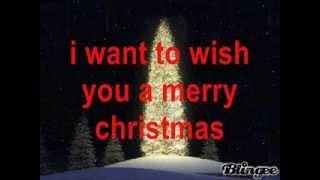 i want to wish you a merry christmas w/lyrics
