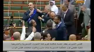 مشاجرة بين النائب طارق مرسي و النائب عبدالرحمن هريدي بمجلس الشوري