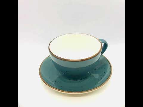 Cappuccino Tasse Dark Türkis