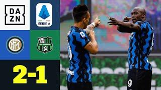 Lukaku und Martinez bauen Inters Tabellenführung aus: Inter Mailand - Sassuolo 2:1 | Serie A | DAZN