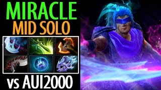Miracle- [Anti Mage] Mid Solo► vs Aui2000 Not So Easy- Dota2 7.04