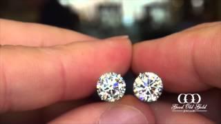 3.42cttw Diamond Stud Earrings
