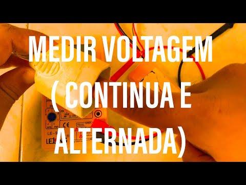 COMO SABER A VOLTAGEM CORRENTE CONTINUA(BATERIA) CORRENTE ALTERNADA(TOMADA)