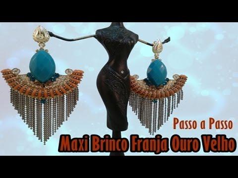 Maxi Brinco Franja Ouro V.