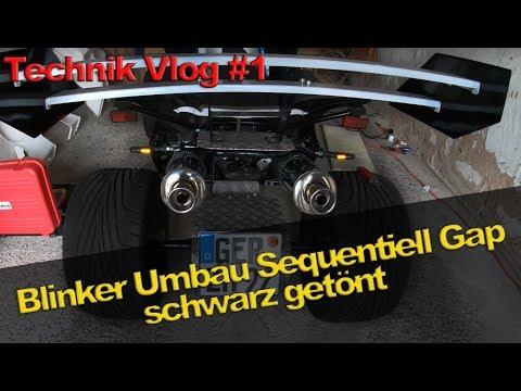Umbau auf LED Blinker Sequentiell Gap schwarz getönt bei Quad auf Deutsch   Technik Vlog