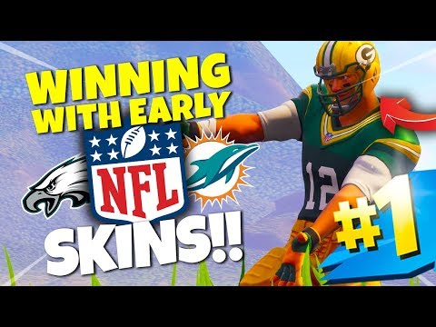WINNING WITH *NEW* FORTNITE NFL SKINS!! | Fortnite Battle Royale Gameplay (ALL NFL SKINS!!)