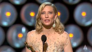 Cate Blanchett Winning Best Actress For Blue Jasmine