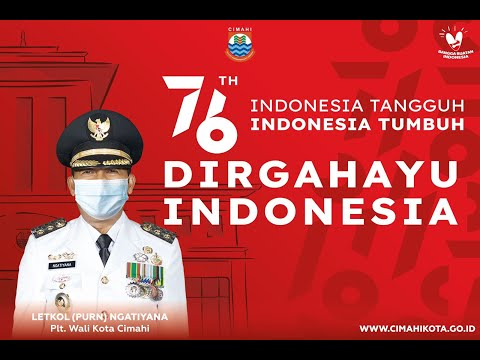 Upacara Penurunan Duplikat Bendera Pusaka Republik Indonesia Tingkat Kota Cimahi Tahun 2021