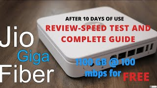 Jio Giga Fiber Broadband - (A TO Z) Review in tamil - 1100 GB@ 100 MBPS FREE |5G high speed internet