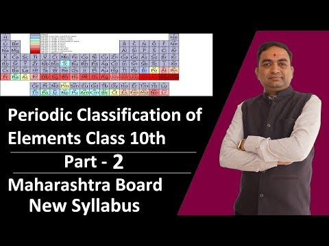 Periodic Classification of Elements | Class 10th| Newland's Law of Octaves Maharashtra Board Part 2