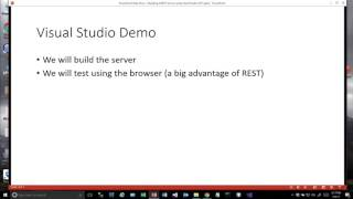 REST Intro - Build a REST Service in Visual Basic Visual Studio 2017 Part 1