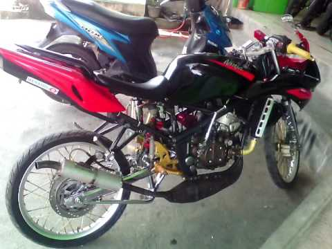 Video Modif ninja rr 2013 WOW ! Velg Ring 17, Knalpot kdx, chrome, Stang, visor, tabung oslam, underbound