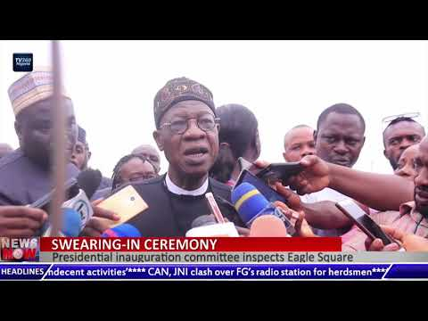 Presidential inauguration committee inspects Eagle Square