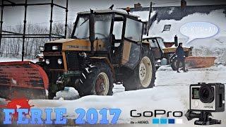 Ferie 2017 - VLOG #2 ☆ Mokrzyn w budowie, prace przy wiacie i wywożenie śniegu ㋡ Bronczek