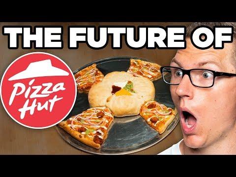 Pizza Hut Four Way Pizza Taste Test   FUTURE FAST FOOD