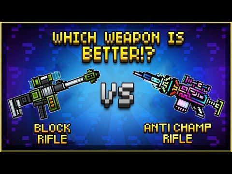 Block Rifle VS Anti-Champion Rifle - Pixel Gun 3D