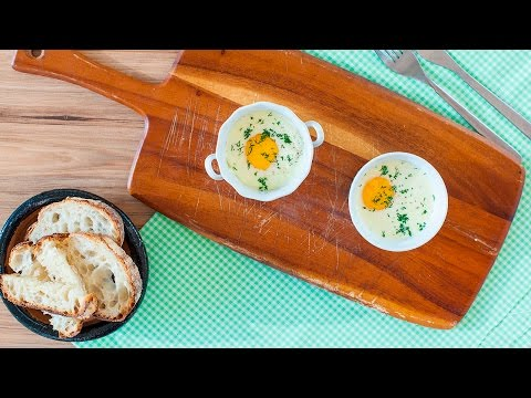 Brunch Recipe – Baked Eggs with Smoked Salmon