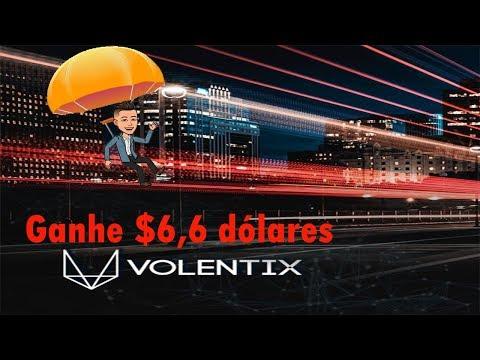 Airdrop 5 estrelas da Volentix , ganhe $6,6 Dólares fácil e rápido !