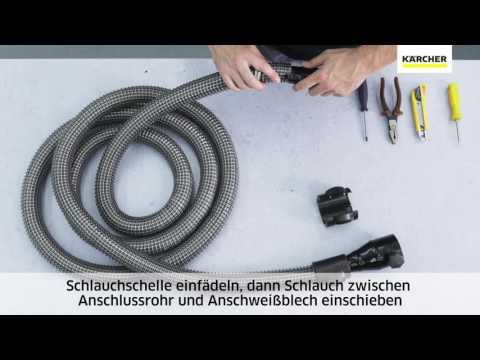 Kärcher Industriesauger: Saugschlauchmontage