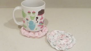 Crochet Fabric Mug Rugs Quick and Easy