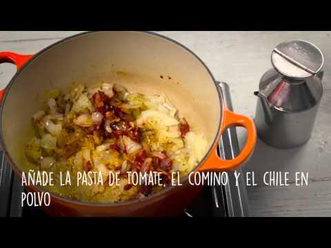 Tacos de coliflor asada y lentejas sazonadas (Spanish captions)