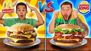 MCDONALDS vs BURGER KING Challenge   FamousTubeFamily