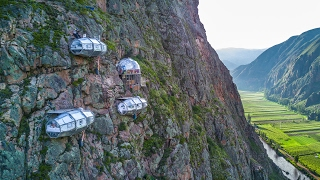 SKYLODGE ADVENTURE SUITES Cusco, Peru | Via Ferrata Climbing & Zipline | by Natura Vive