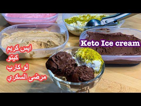 كيتو/ايس كريم لذيذ بعدة نكهات،لوكارب،مرضى السكري Keto Ice cream