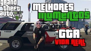 POLICIAL DE VERDADE NO GTA VIDA REAL - MELHORES MOMENTOS