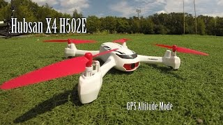 Hubsan X4 H502E Квадрокоптер с GPS Обзор и Первый Полёт