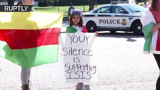 Pro-Kurdish protesters call on White House to support Kurds in Iraq