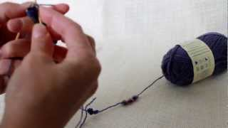 free pattern and tutorial - knitting beaded bracelet (1)