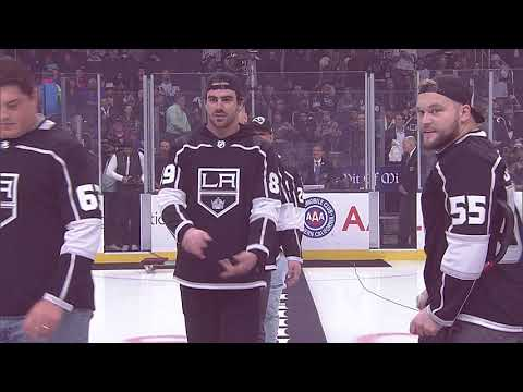Rams Players Drop The Puck At The LA Kings Game