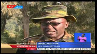 Kenya Forest Service and KWS fight to contain Aberdare forest fire