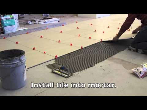 How To Install Tile Floor with Leveling System