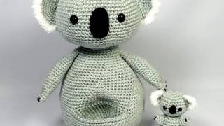 Koala mother and baby, amigurumi crochet pattern