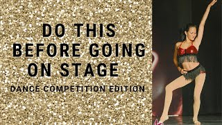4 Tips Before Going On Stage For Dance Competition