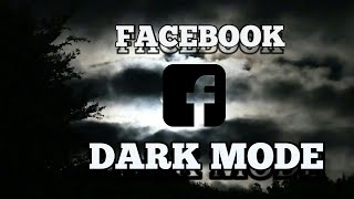 How To Dark Mode Your Facebook? 🌙🌙🌙 |Harvella Covers