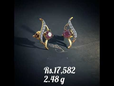 Diamond Earrings With Weight and Price from Bluestone