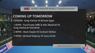 Just. 2019 World Indoor Bowls Championships: Day 10 Session 3