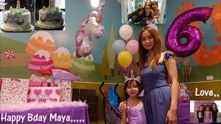 Childrens Birthday Party: A Unicorn Princess Birthday Party Theme. Family Indoor Playground