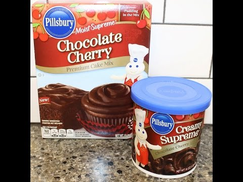 Video Making A Pillsbury Chocolate Cherry Cake