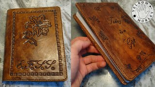 Making A Hand-tooled Leather Journal Cover | Leatherworking